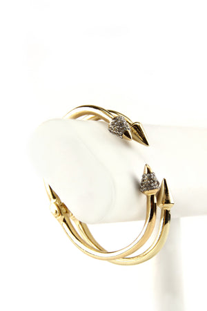 Double Arrow Sold Bangle Set - Haute & Rebellious
