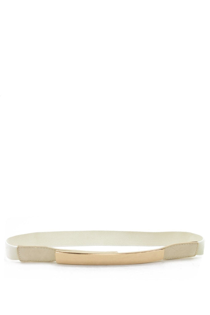 GOLD PLATED BELT - Creme