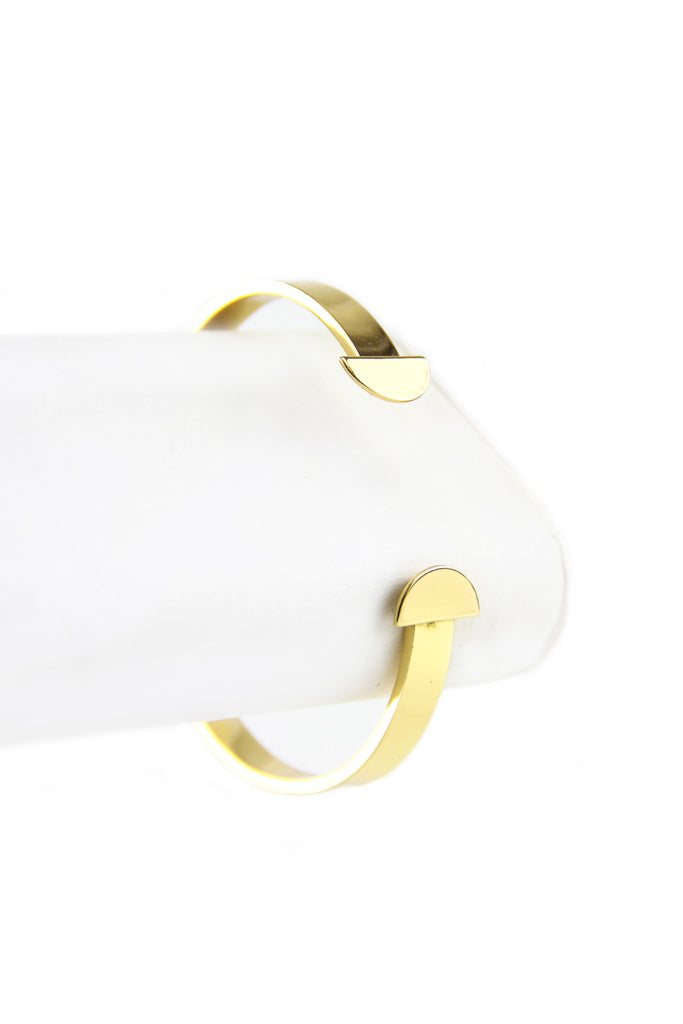 The One Solid Gold Cuff Bracelet