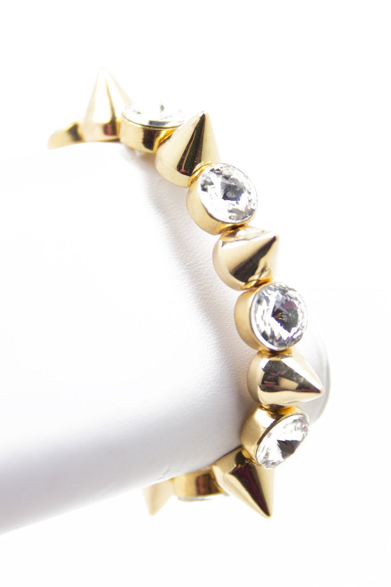 LARGE CRYSTALS & SPIKE BANGLE - Haute & Rebellious