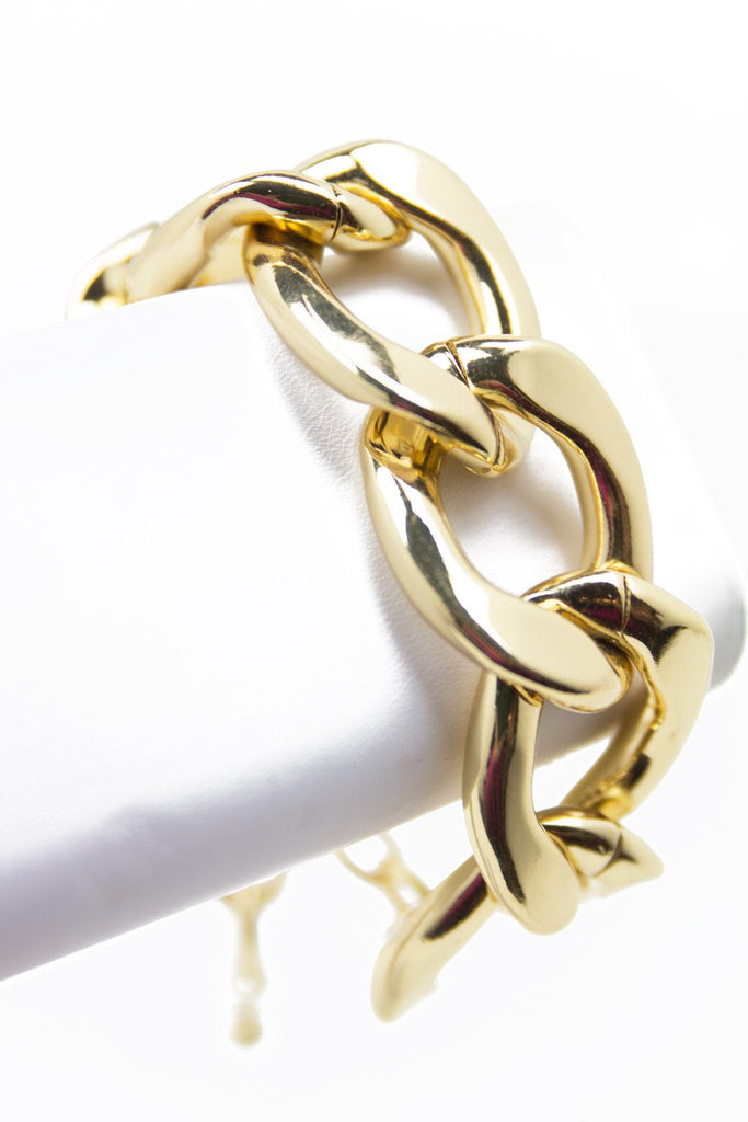 LARGE CHAIN LINK BRACELET - Gold