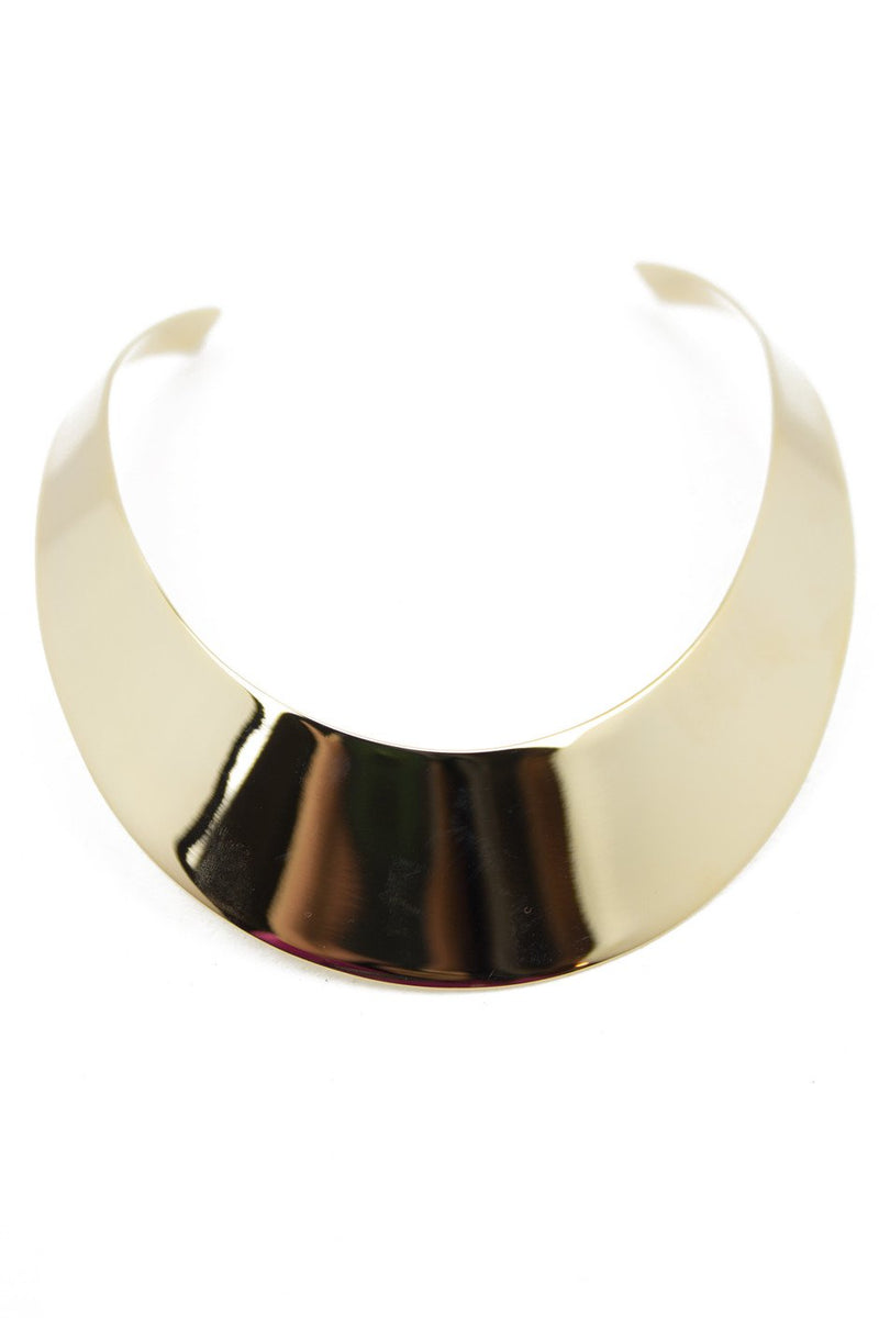 LARGE GOLD PLATE NECKLACE - Haute & Rebellious