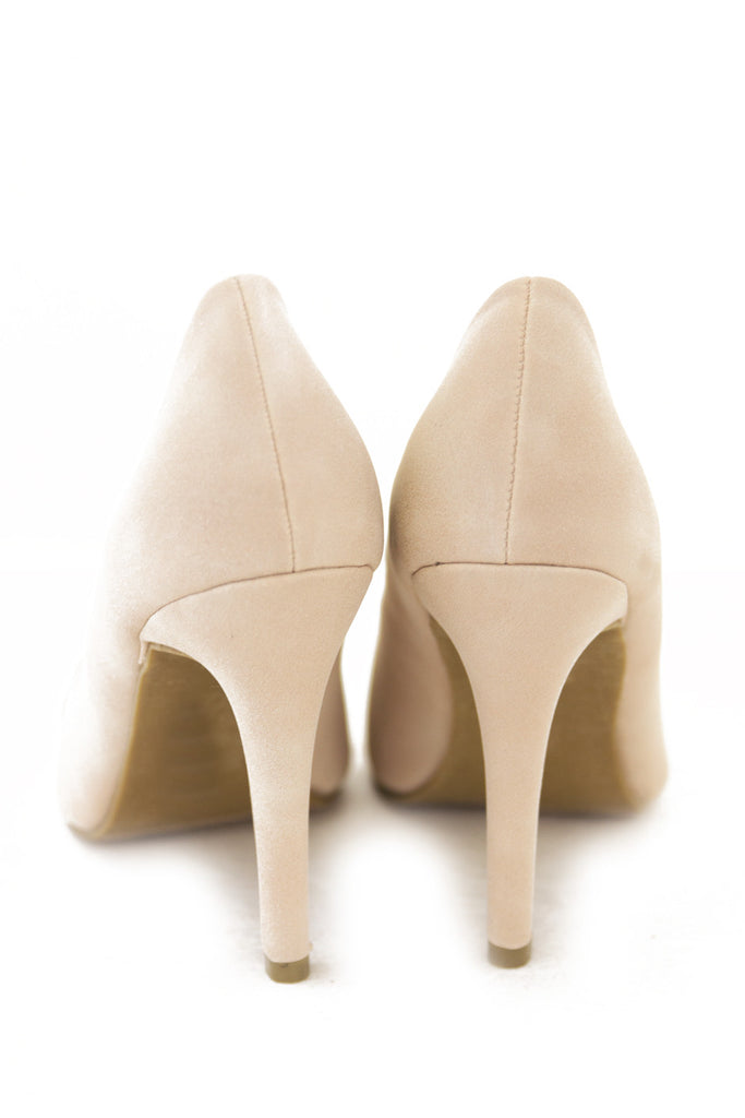 SILVER PLATED TOE PUMP - Cream