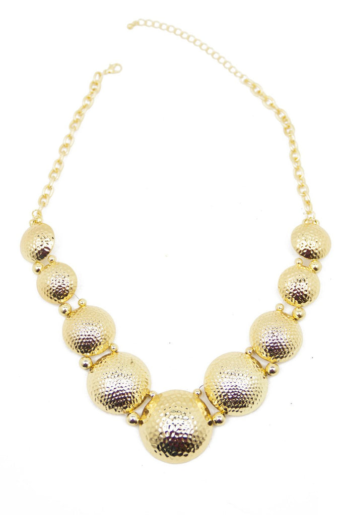 DENTED GOLD SHIELDS NECKLACE (Final Sale)