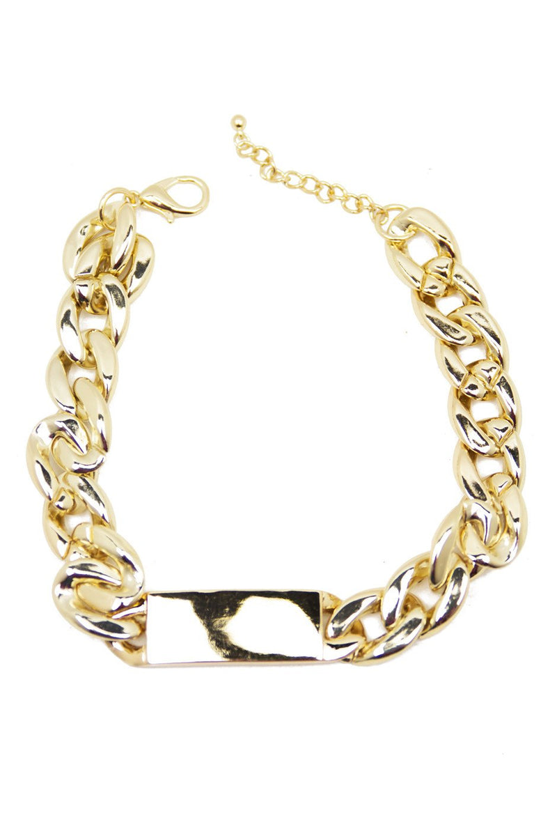 GOLD PLATE & LINK NECKLACE - Haute & Rebellious