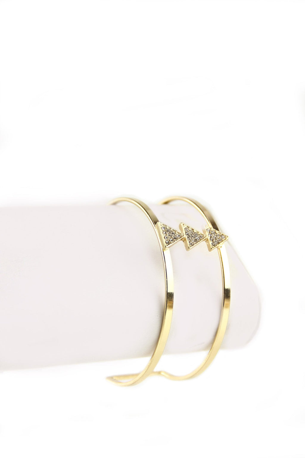 Cutout Triangle Cuff Bracelet - Haute & Rebellious