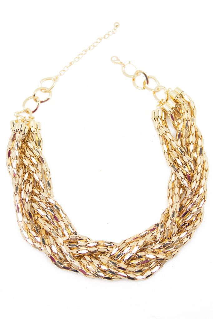 GOLD LEAF ROPE CHAIN NECKLACE