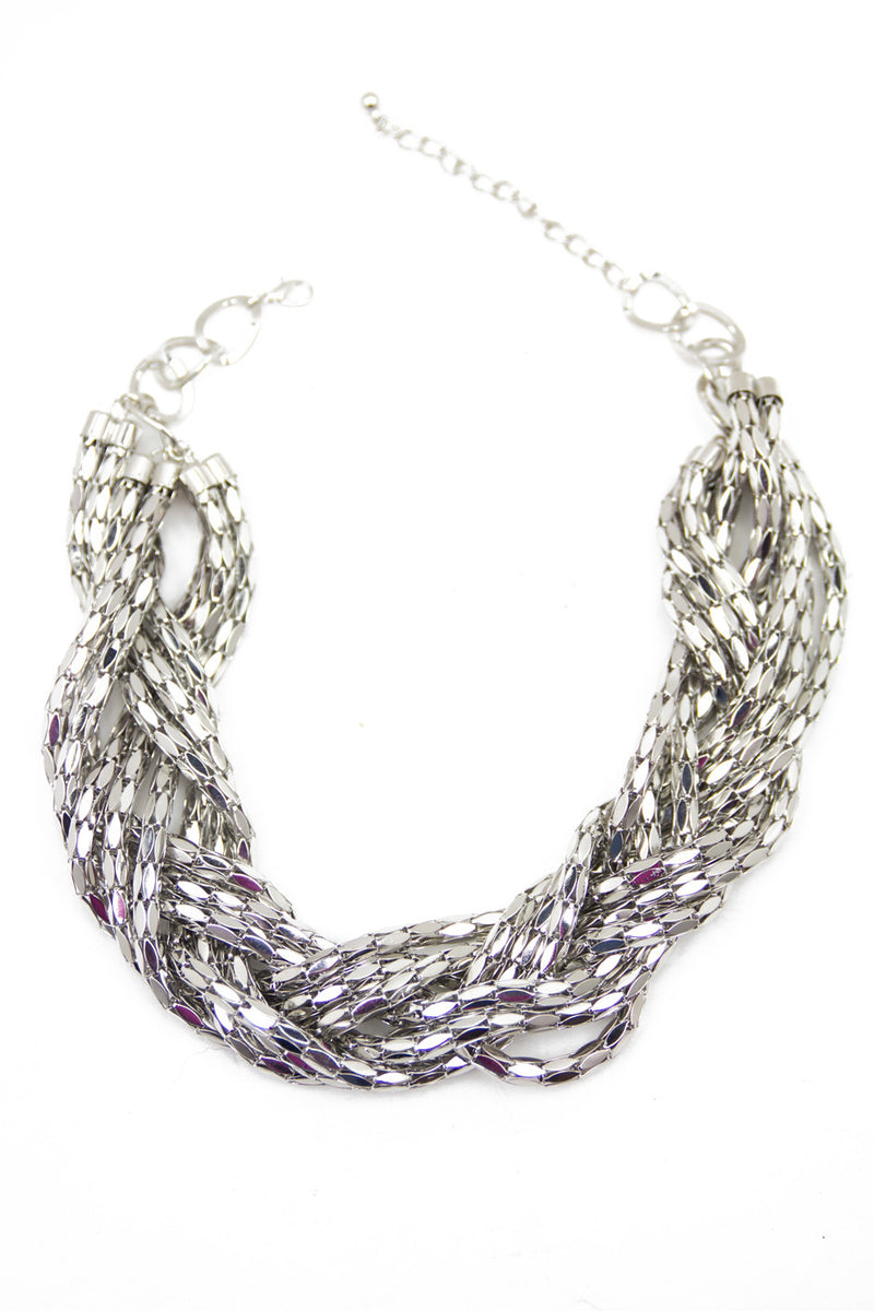 SILVER LEAF ROPE CHAIN NECKLACE - Haute & Rebellious