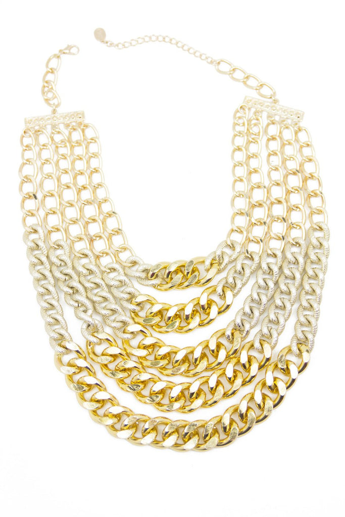 MULTI CHAIN LINK NECKLACE - Haute & Rebellious