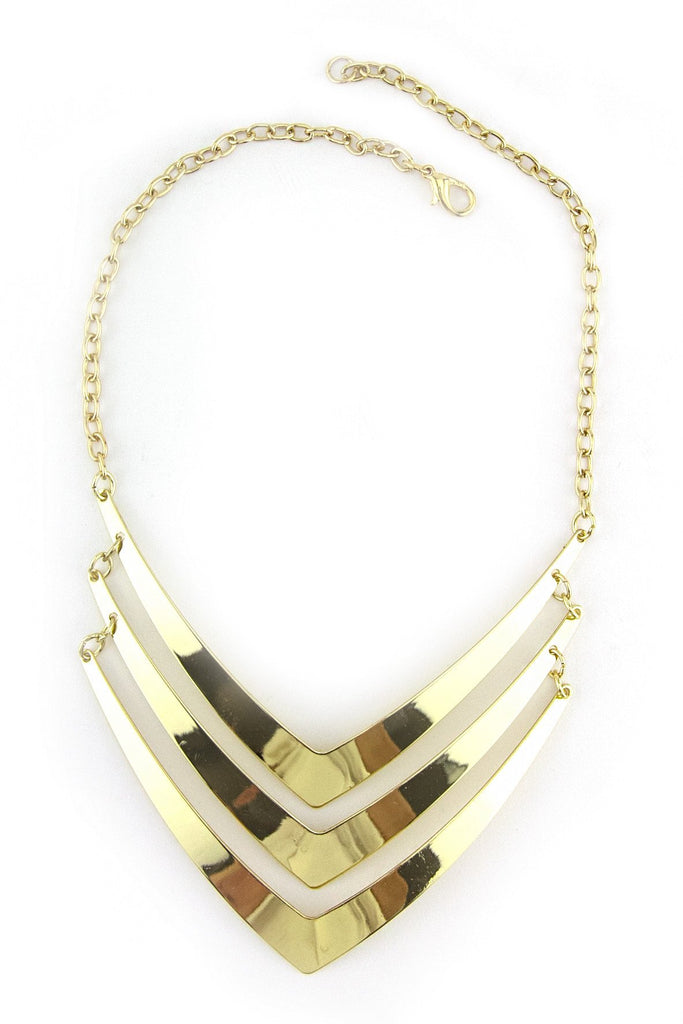 LAYERED POINT NECKLACE - Gold