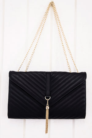 Stanford Chain Crossbody - Black - Haute & Rebellious