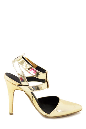 LAUREN METALLIC STRAP PUMP - Haute & Rebellious
