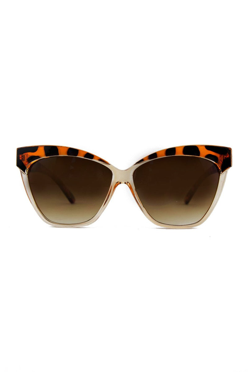 CAT-EYE SUNGLASSES - Tortoise/Clear - Haute & Rebellious