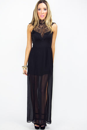 BIANCA LACE DRESS - Black - Haute & Rebellious
