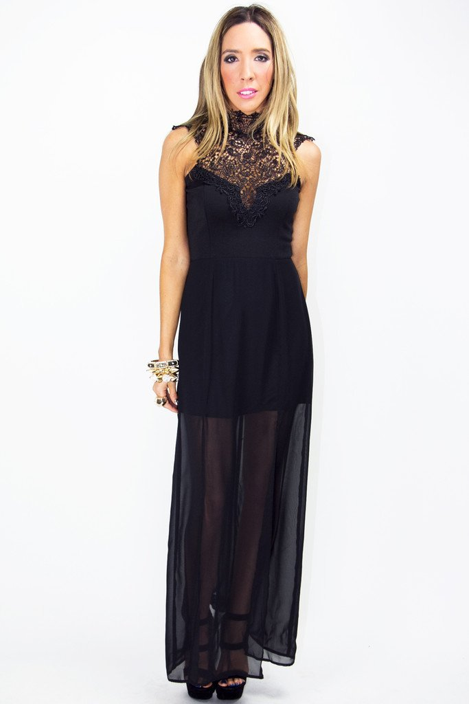 BIANCA LACE DRESS - Black