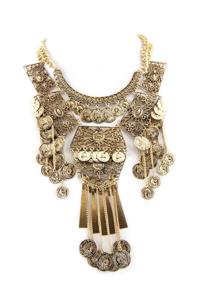Maila Heavy Boho Statement Necklace