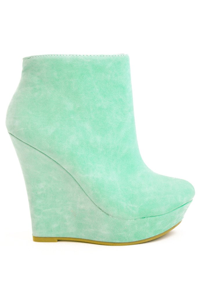MONA WEDGES - Mint - Haute & Rebellious