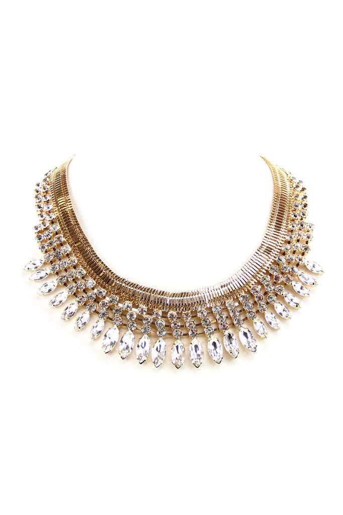 Egyptian Crystal Statement Necklace