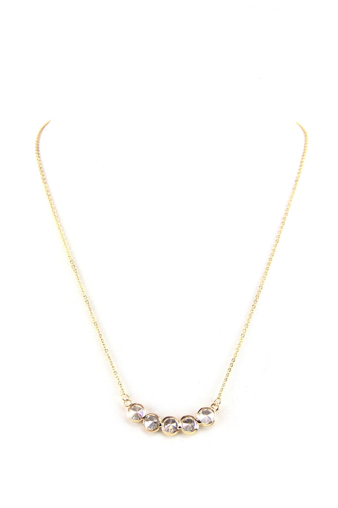 Crystal Pendant Petite Necklace