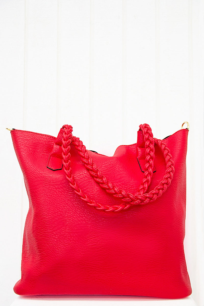 Maven Tote - Red - Haute & Rebellious