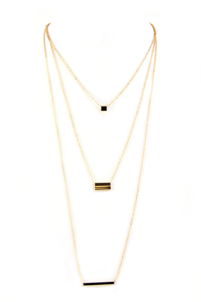 Petite 3 Pendant Layering Necklace