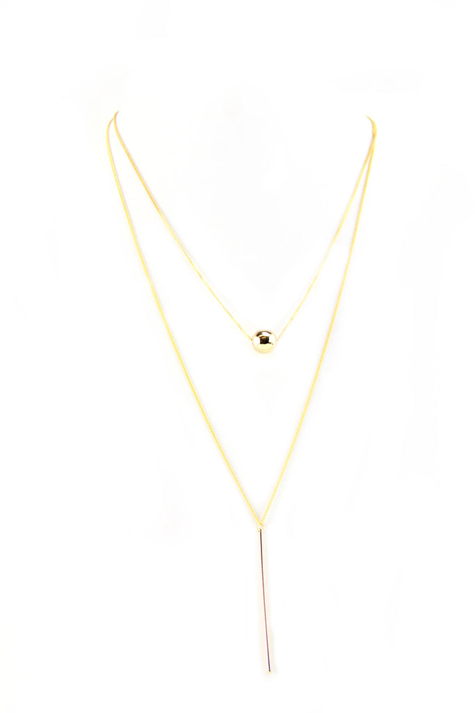 Petite Ball & Pendant Layering Necklace