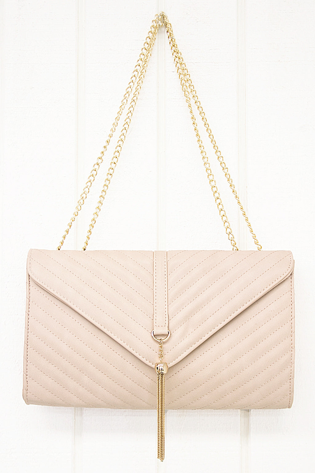 Stanford Chain Crossbody - Rose - Haute & Rebellious