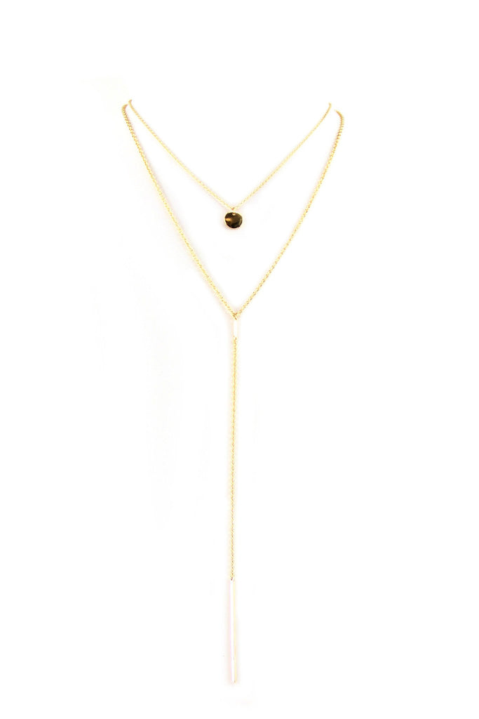 Double Layer Petite Pendant Necklace