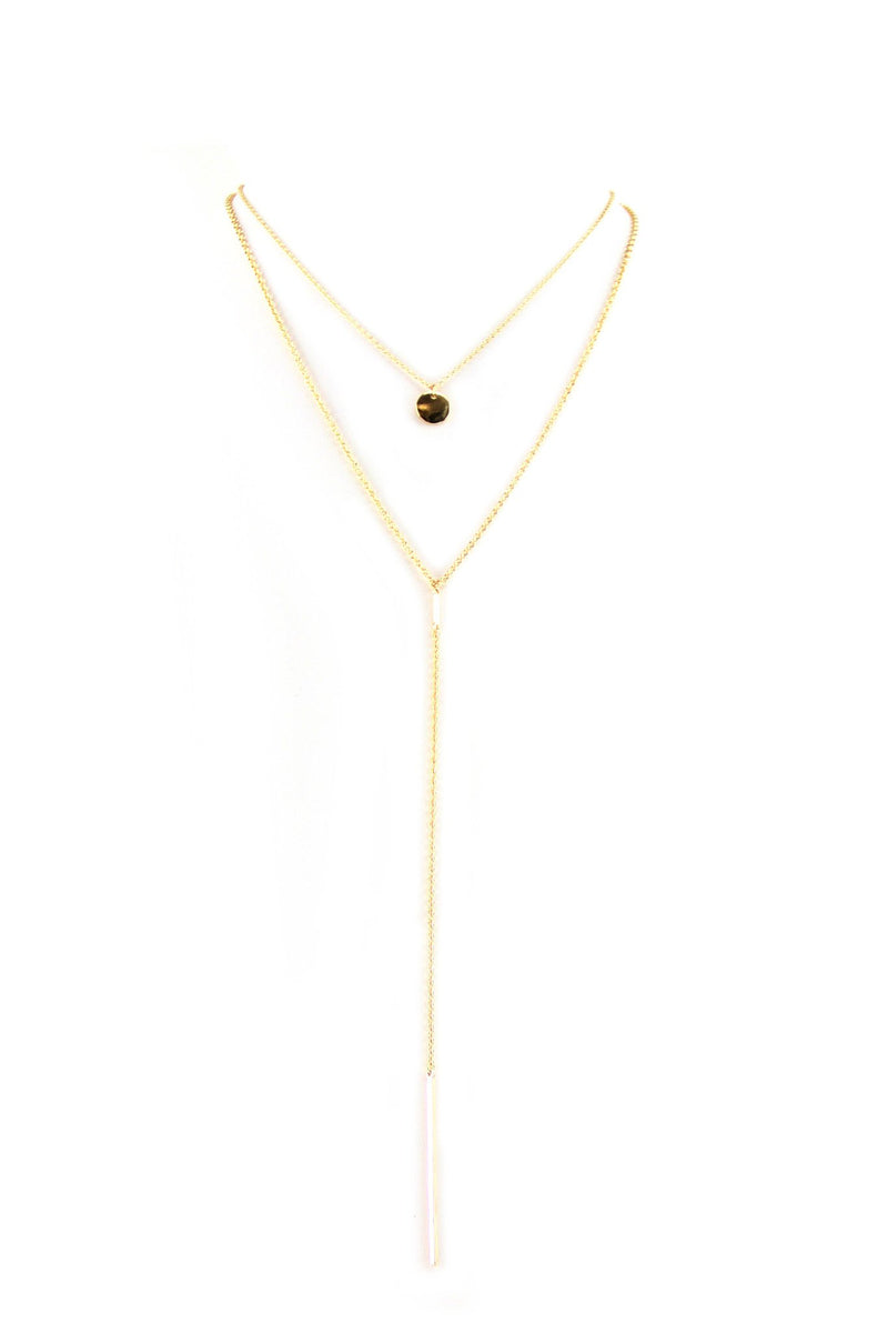 Double Layer Petite Pendant Necklace - Haute & Rebellious