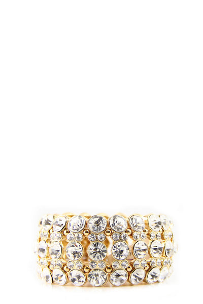 Emma Heavy Crystal Bracelet - Gold