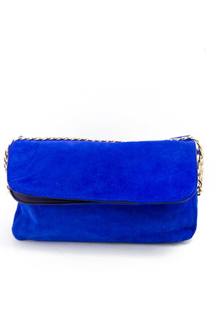 SUEDE SHOULDER BAG - Electric Royal Blue - Haute & Rebellious