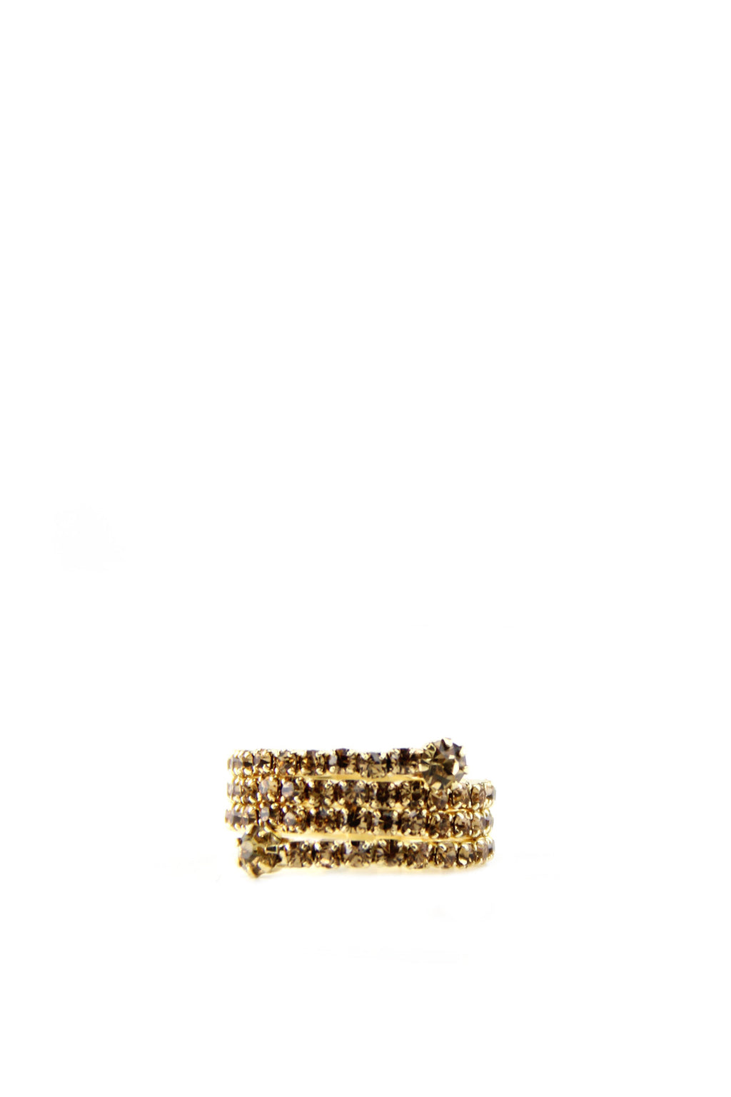 Spiral Wrap Diamond Ring - Yellow Gold - Haute & Rebellious