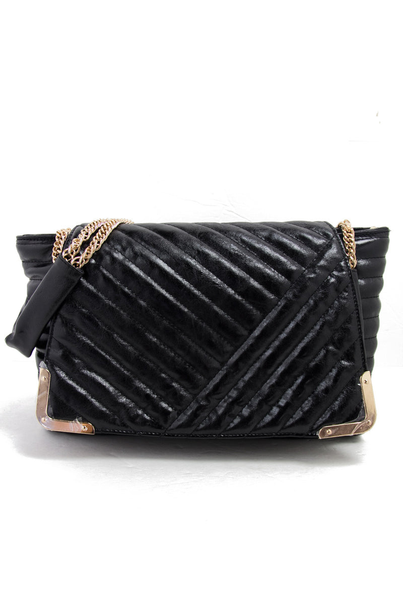 VINTAGE INSPIRED QUILTED BAG - Black - Haute & Rebellious