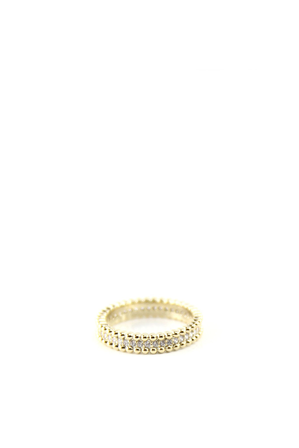 Crystal & Gold Border Ring - Haute & Rebellious