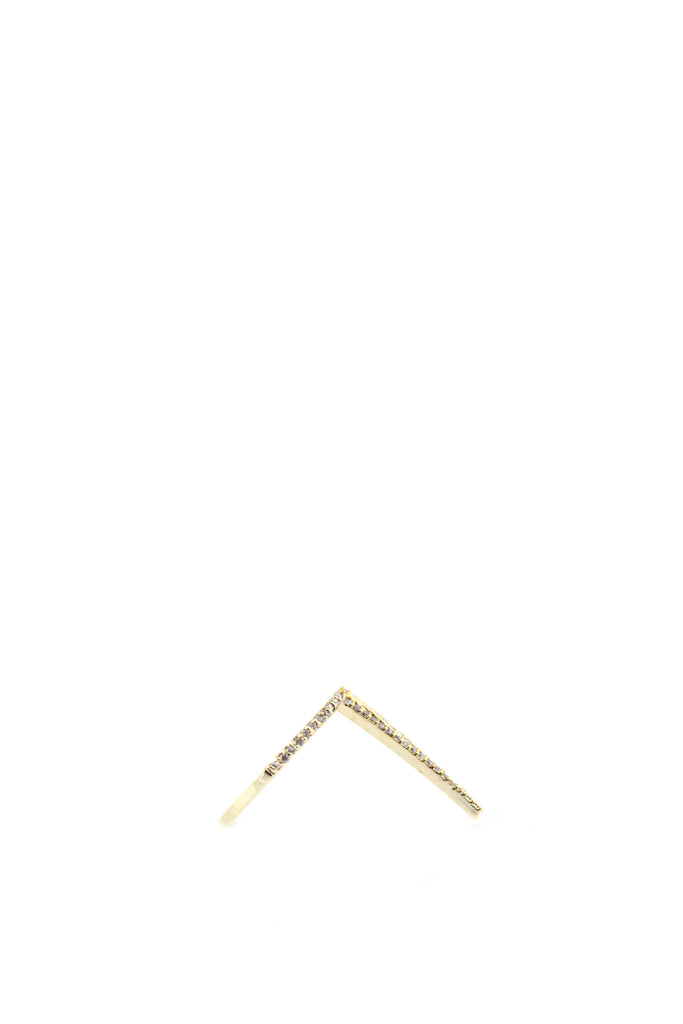 Petite Crystal Arrow Ring