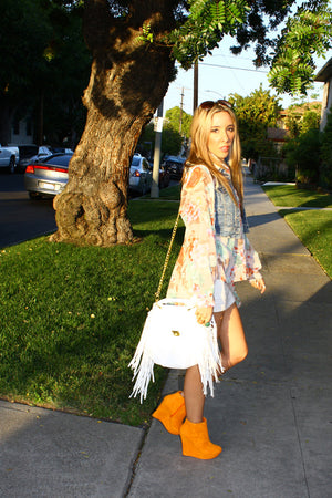 Haute & Rebellious WHITE FRINGED BAG in [option2]