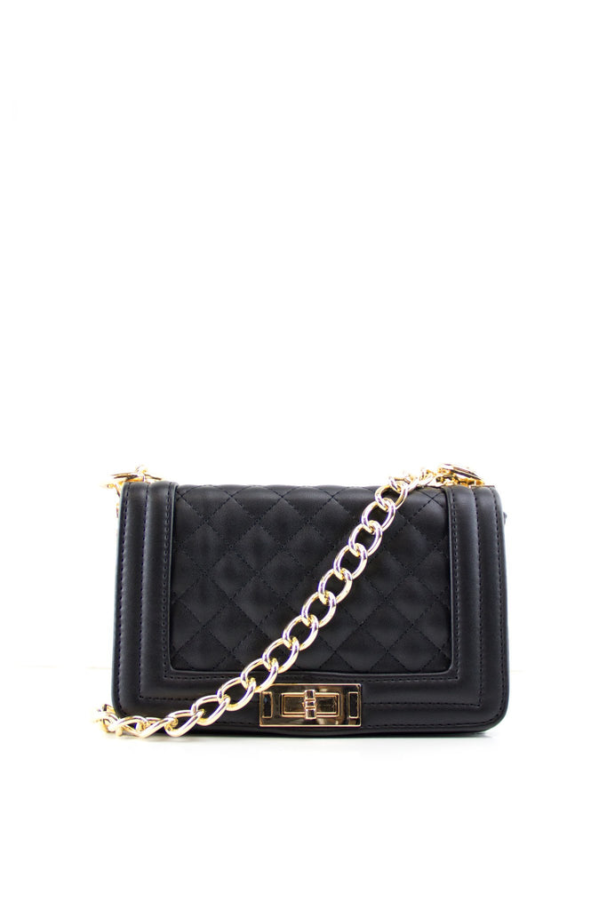 Maxwell Quilted Gold Chain Boy Bag