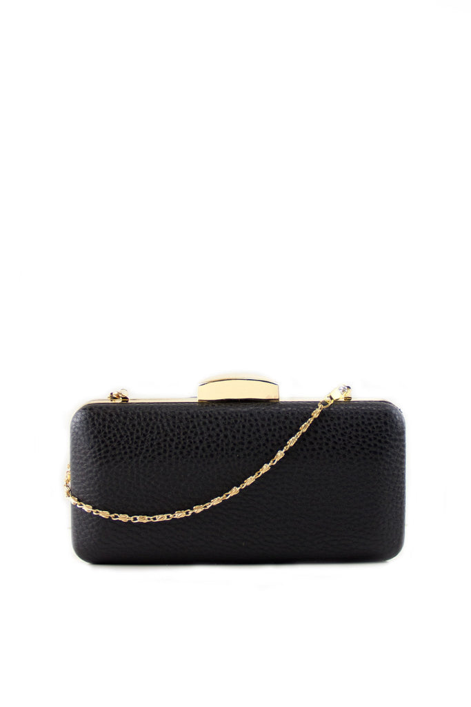 Bain Gold Trim Hard Case Clutch