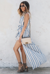 Striped Maxi Dress With Shorts