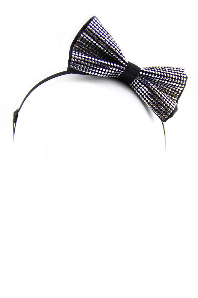 Silver Studded Bow-Tie