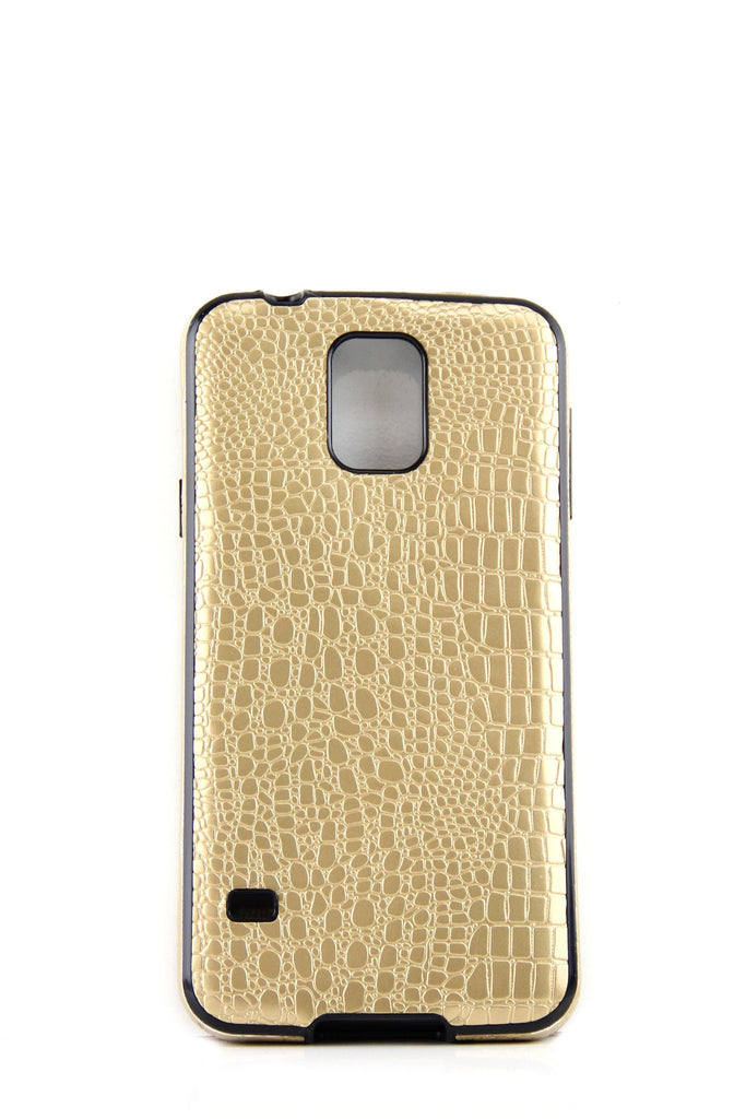 Gold Crocodile Skin Cell Phone Case