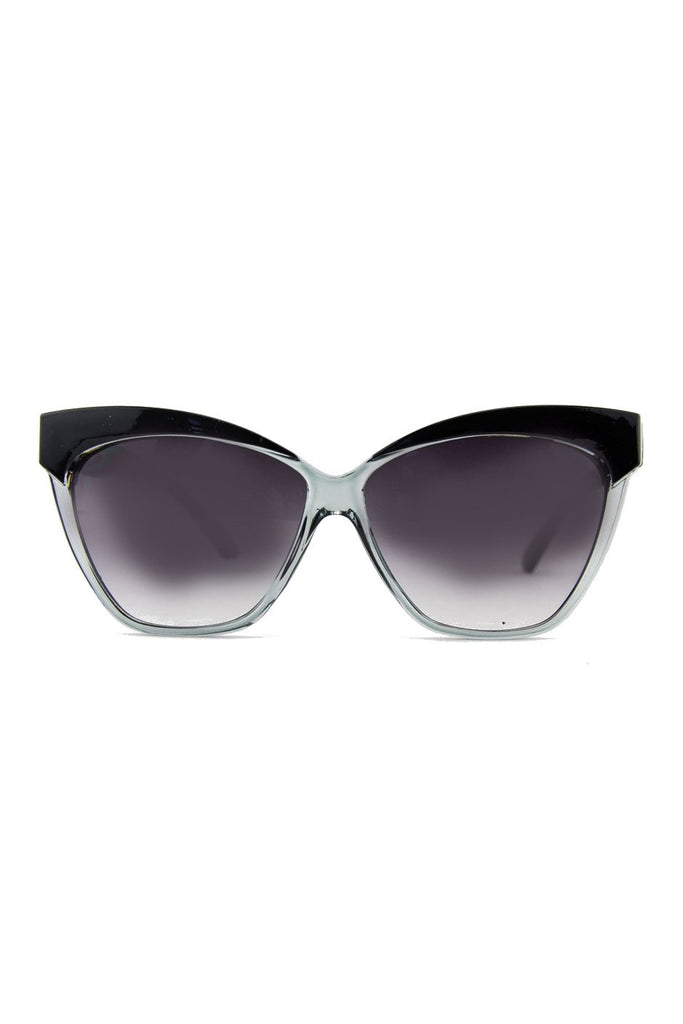 CAT-EYE SUNGLASSES - Black/Clear