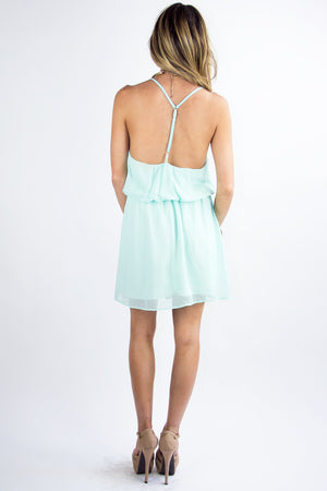 T BACK DRESS - Light Blue - Haute & Rebellious