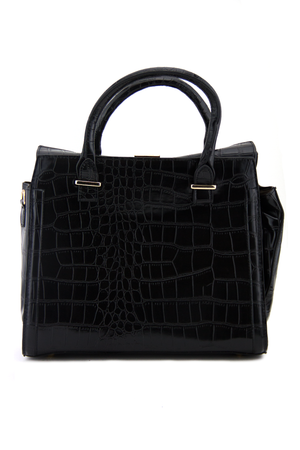 BRISTOL ALLIGATOR HANDLE TOTE - Black - Haute & Rebellious