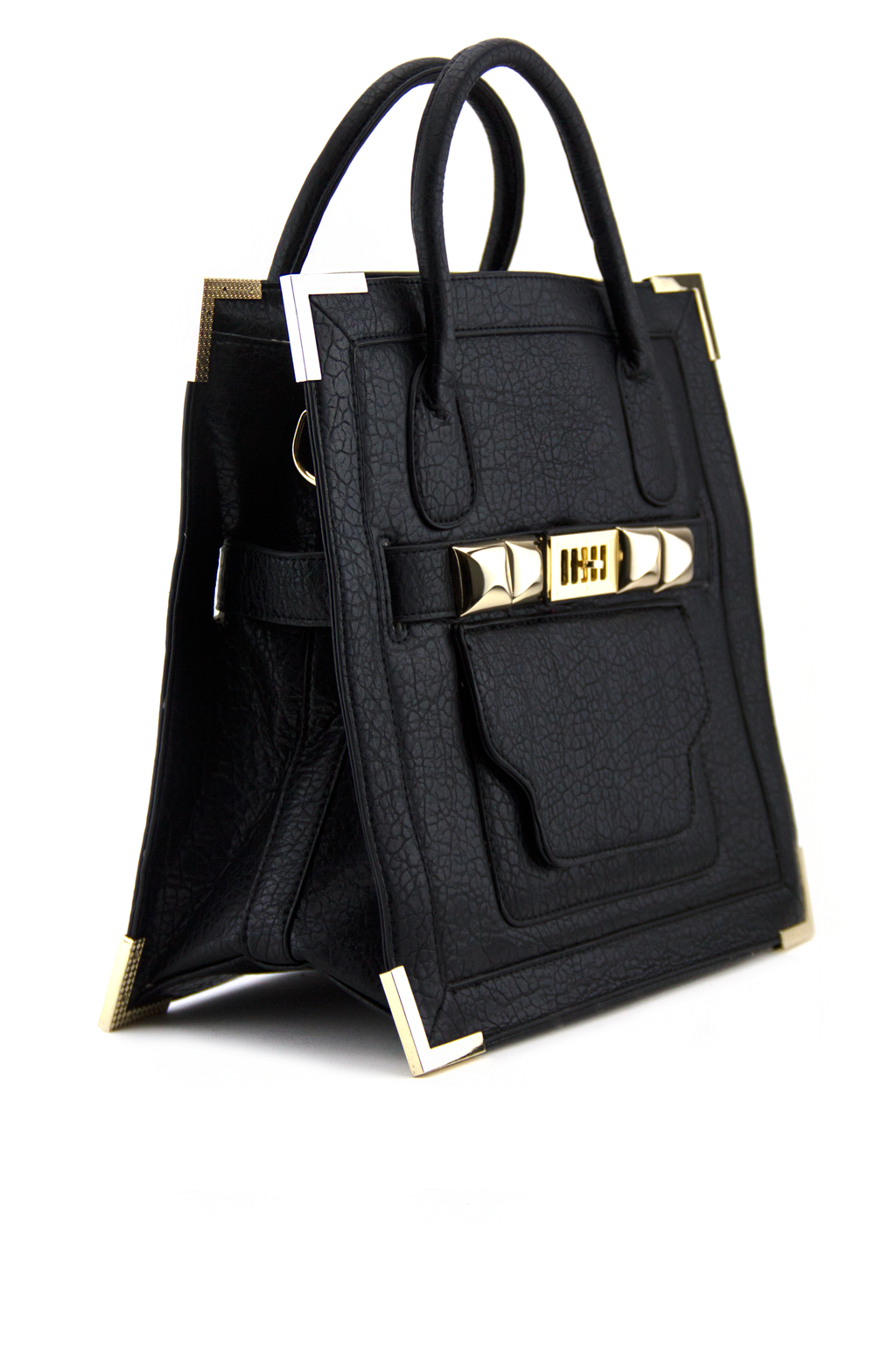 RENZO SQUARE HANDLE TOTE - Haute & Rebellious