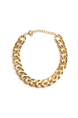 GRAM FLAT CHAIN LINK NECKLACE - Haute & Rebellious