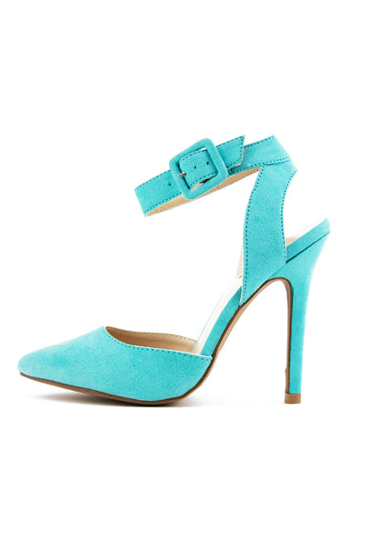 POINTY STRAP HEEL - Turquoise