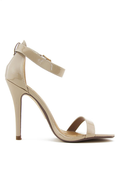 CLASSIC SINGLE STRAP HEEL - Beige - Haute & Rebellious