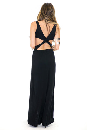 HARVEY CROSS-BODY HIGH SLIT DRESS - Haute & Rebellious