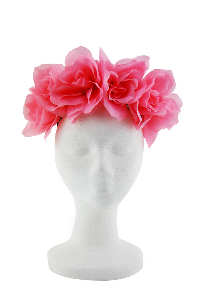 Majestic Blossom Flower Child Headband - Pink
